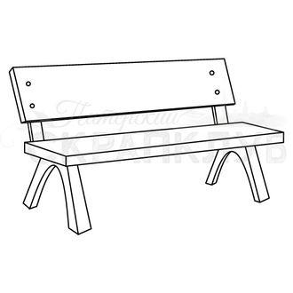 Штамп для скрапбукинга деревянная скамейка