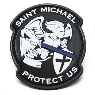Патч Saint Michael protect us ПВХ (8 см)
