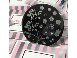 STAMPING PLATE NAIL ART #51