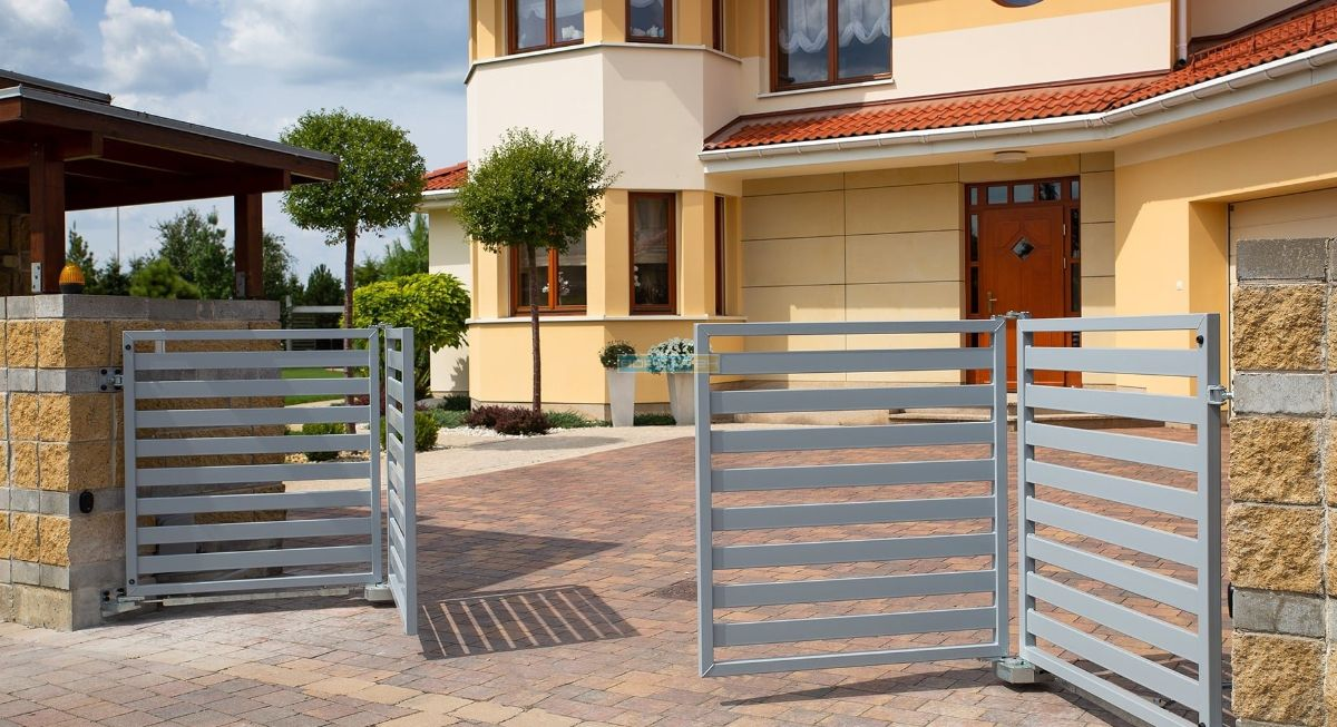 автоматические складные ворота - изготовление ворот типа гармошка