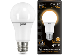 Gauss LED A60 Globe 12w 830/840 E27