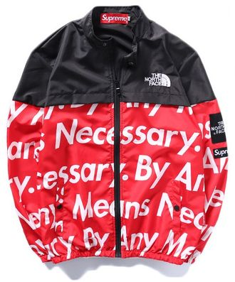 Куртка Supreme The North Face красная
