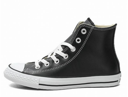 converse chuck taylor all star hi leather black 01