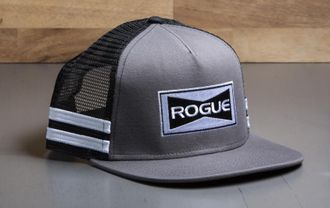 ROGUE STRIPED TRUCKER HAT - FLAT BILL Кепка Rogue Fitness