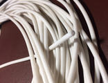 Silicone hose  for fuel 2.0x 3.6 mm , white