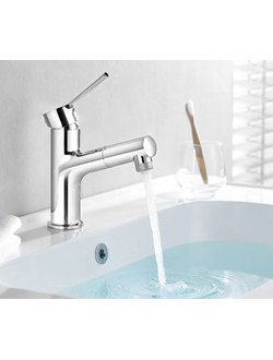 Смеситель с выдвижным изливом Xiaomi OPPLE stainless basin faucet hot and cold with retractable tap