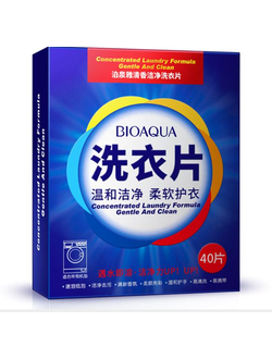 Пластины для стирки BIOAQUA Concentrated Laundry Formula Gentle And Clean.