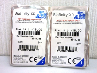 Biofinity XR (Cooper Vision)