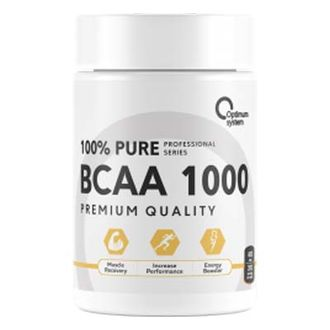 (OPTIMUM SYSTEM) BCAA 1000 - (400 КАПС)