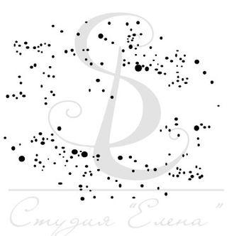 Фоновый штамп с точками и кляксами