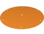 Cloth Parachute Canopy Round with 7 Holes, Orange (43364 / 6251619)