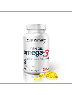 Омега 3 Be First Omega-3 fish oil 90 softgels x 1400mg