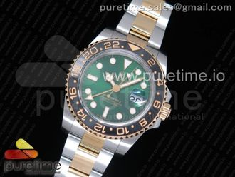GMT Master II 116713 GM Maker 904L Steel Edition Green Dial