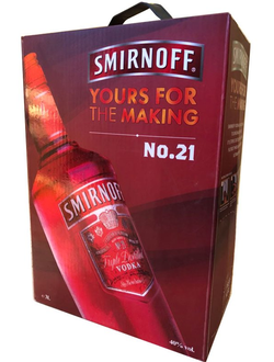 Водка Смирнов 3л ( Smirnoff yours for the making ) 3L 40% (Клюква)