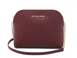 Сумка Michael Kors Cindy Large Dome Crossbody (Бордовая)