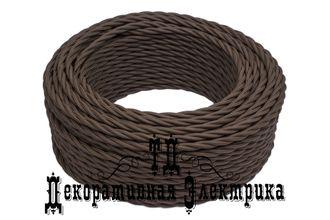 Витой ретро провод Bironi, цвет: коричневый