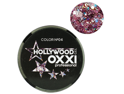 Глитерный гель OXXI Professional Hollywood №4, 5гр