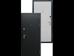 Металлическая дверь асд НЕКСТ-1 Акация светлая поперечная