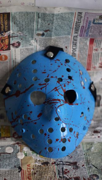 Маска Джейсона Вурхиза Кровавая Нинтендо 8 бит Replica Friday the 13th