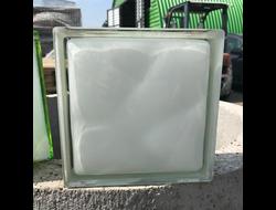 Стеклоблок Vitrablok окрашенный внутри волна молочный 100%(белый)