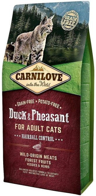 Сухой корм для кошек Carnilove Duck & Pheasant for adult cats, утка и фазан 6 кг