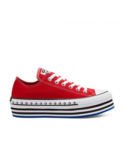 Кеды Converse All Star Logo Play Platform красные