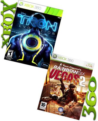 TRON:EVOLUTION и RAINBOW SIX VEGAS  2 (XBOX 360)(XBOX ONE)