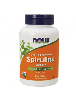 Добавка NOW Spirulina 200tab