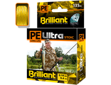 Плетёный шнур PE Ultra Brilliant Stoic Ultra Yellow 0,16 мм 135 м