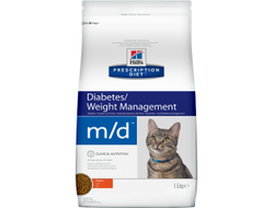 Корм для кошек Hills (Хилс) Prescription Diet m/d Diabetes/Weight Management  с курицей 1,5 кг