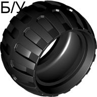 ! Б/У - Tire 43.2mm D. x 26mm Balloon Small, Black (61481 / 4518826) - Б/У