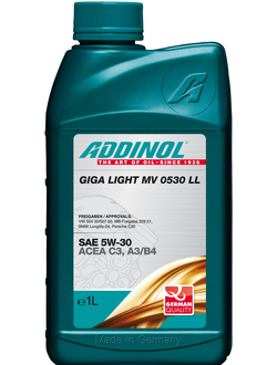 Моторное масло Addinol Giga Light (Motorenol) MV 0530 LL 5W-30, 1л