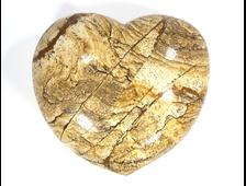 Сердце Яшма рисунчатая (100*90*50 мм, 795 г) №15939