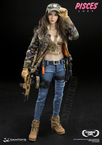 КОЛЛЕКЦИОННАЯ ФИГУРКА 1/6 scale COMBAT GIRL SERIES PISCES LUCY (DCG004) - DAMTOYS