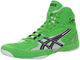 Борцовки Asics Cael V5.0 Electric Green/Black/White J202Y-7090 в зеленом цвете фото