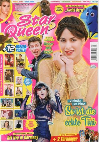 STAR QUEEN Magazine № 4 2016 Martina Stoessel, Shawn Mendes, Selena Gomez Cover ИНОСТРАННЫЕ ЖУРНАЛЫ