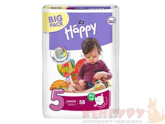 Подгузники Bella baby Happy 5 (12-25 кг) 58 шт.