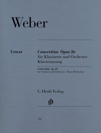 Carl Maria von Weber Concertino op. 26 for Clarinet and Orchestra
