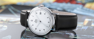 Часы мужские LACO VINTAGE 38 MM AUTOMATIC WHITE 861833