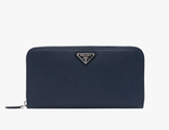 Prada Triangle Wallet Baltic Blue