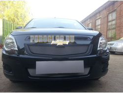 Защита радиатора Chevrolet Cobalt 2013- / Ravon R4 2016-chrome низ