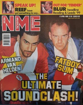 NME Magazine 17 April 1999 Armand Van Helden, Fatboy Slim Cover Иностранные журналы, Intpressshop