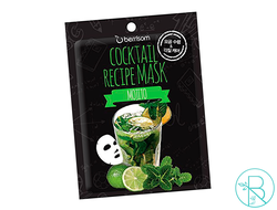Маска тканевая Berrisom Cocktail Recipe Mask Mojito маска-коктейль Мохито