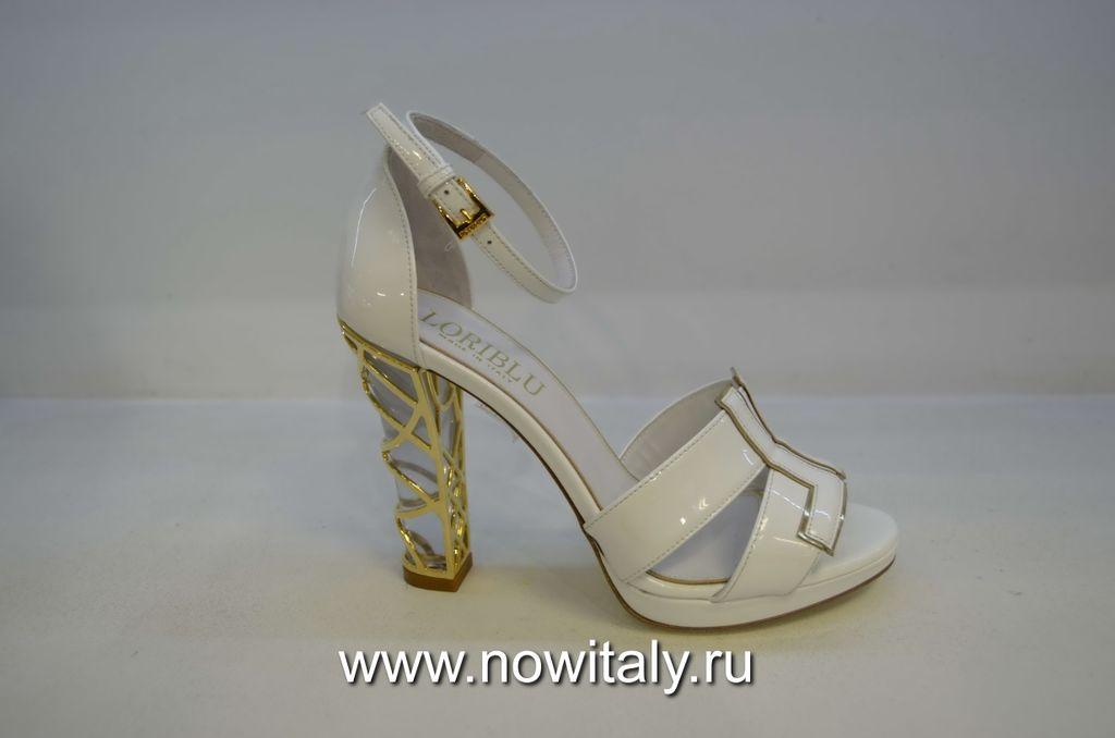 a8acc8102 Босоножки белые на каблуке Италия Loriblu купить от дизайнера обуви ...