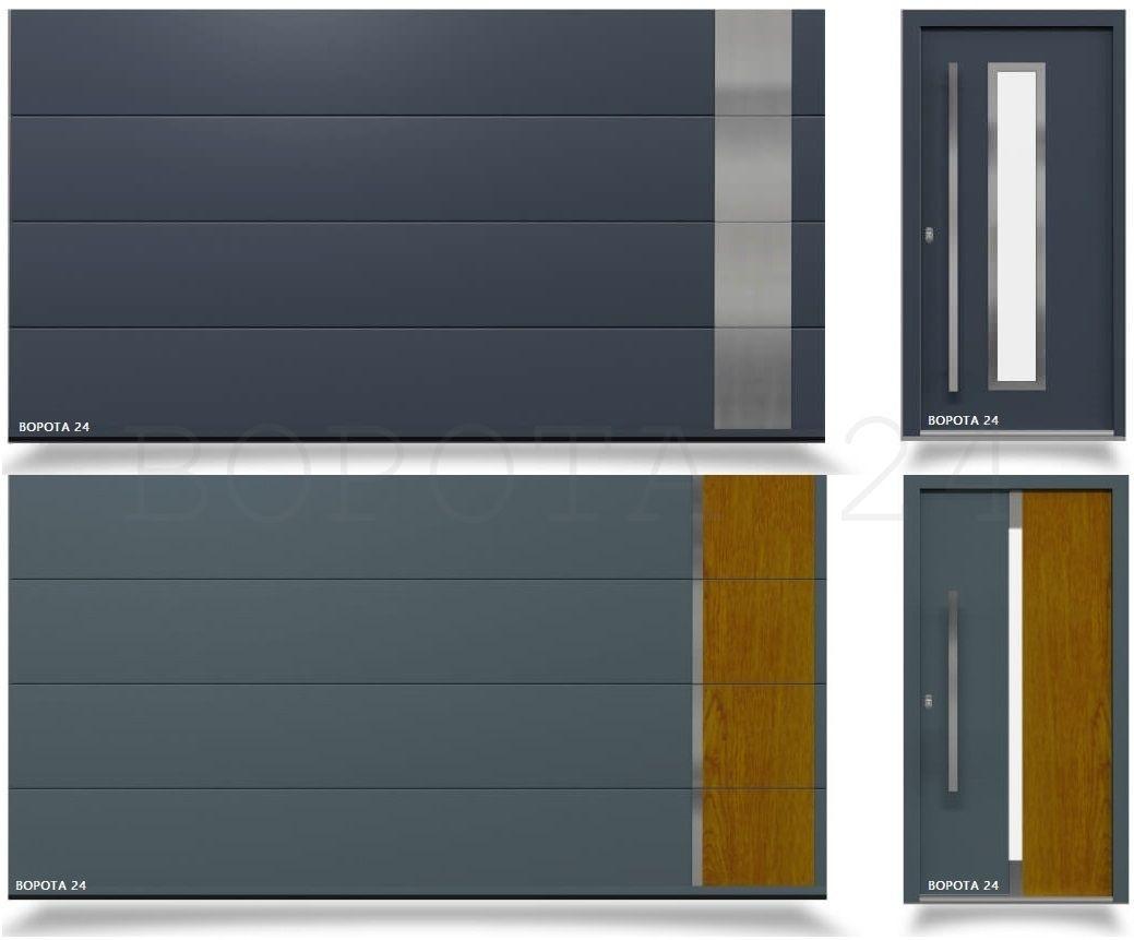 ворота секционные ryterna из сэндвич панели с окнами и калиткой - двери из Европы входные для дома