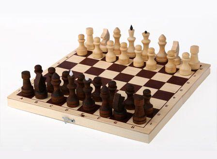 Фото Шахматы обиходные парафинированные