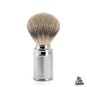 Помазок Muehle Traditional с ворсом барсука Silvertip, хром
