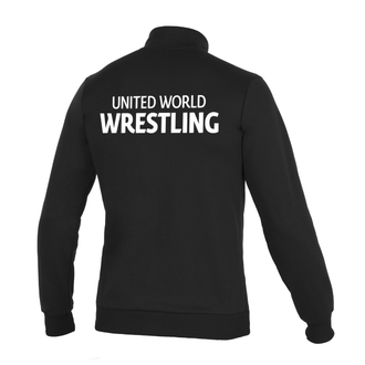кофта на замке Асикс, UWW, United World Wrestling черная, asics