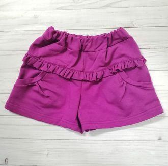 Шорты для девочки (Артикул 2125-362) цвет фиолетовый