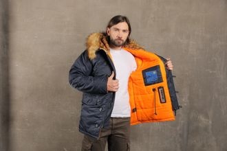Куртка Аляска Husky Classic Rep.Blue/orange